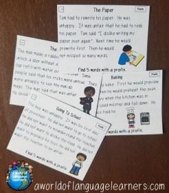prefix task cards