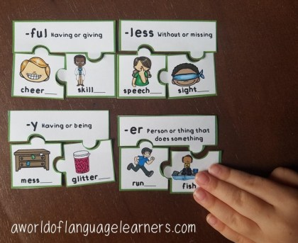 suffixes puzzles