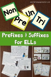 Prefixes and Suffixes with ELLs
