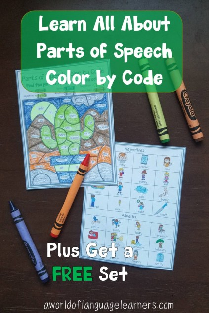 Parts of Speech Color by Code Free