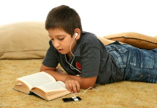 Listening to an audio book.