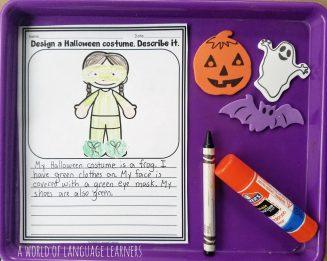 Halloween costume writing