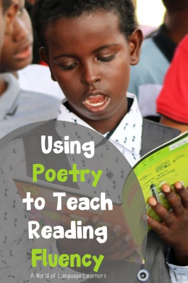 Using poetry to teach reading flluency