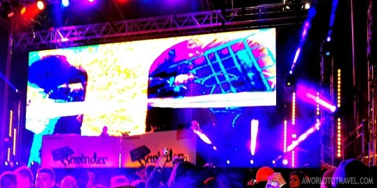 Rewinder, electronic music stage.