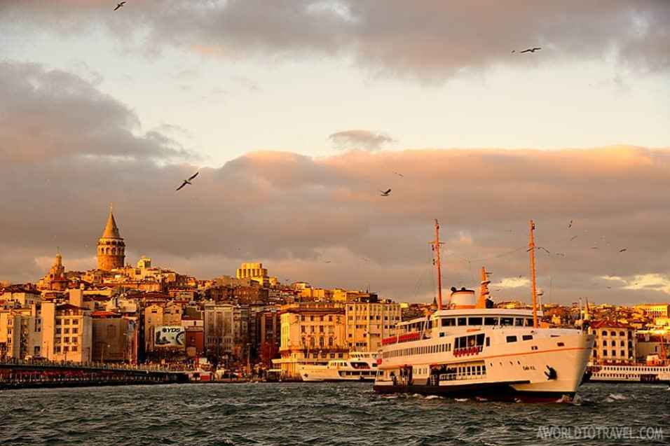 Galata tower and bridge Bosphorus Istanbul Turkey A World To Travel