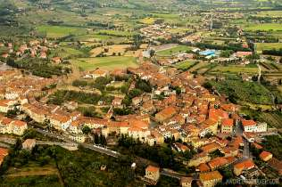 Flying on a Cessna over Tuscany, Italy