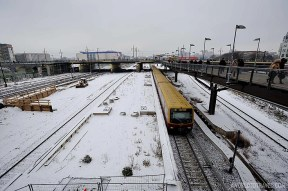 Perhaps not the best picture to draw you to Berlin in Winter.. unless you love this kind of urban spaces and railways...