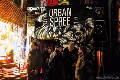 A packed Urban Spree in an opening night