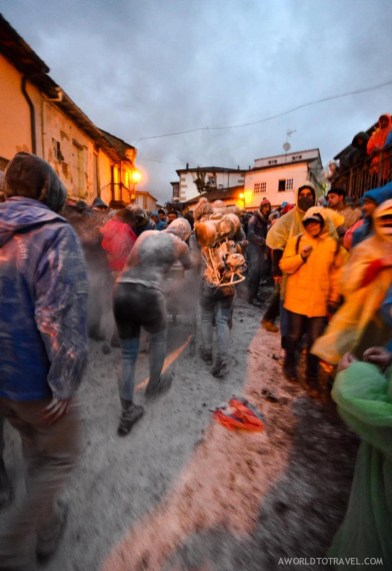 Flour madness in Laza, Ourense