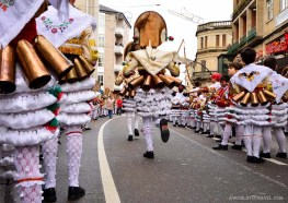 Cigarrons running in Verin, Ourense