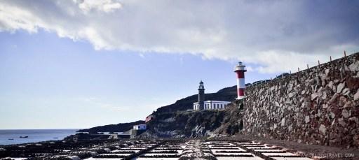 Couple of lighthouses by Jardin de la Sal restaurant. Fuencaliente salt mines, La Palma