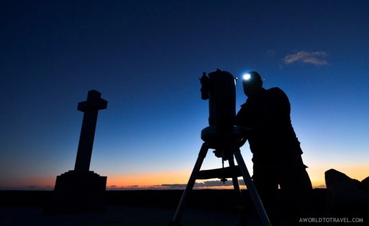 Getting ready for a star gazing session in La Palma
