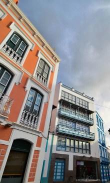 Vibrant fachades in Santa Cruz, La Palma.