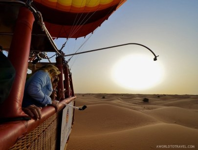 Hot Air Balloon Ride over Dubai's desert, UAE.