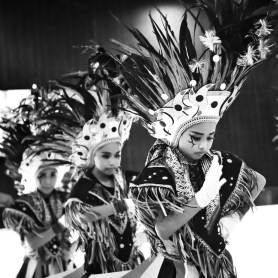 Tari Topeng Ireng, also known as Dakayan dance is a traditional art performance originally from Magelang city.