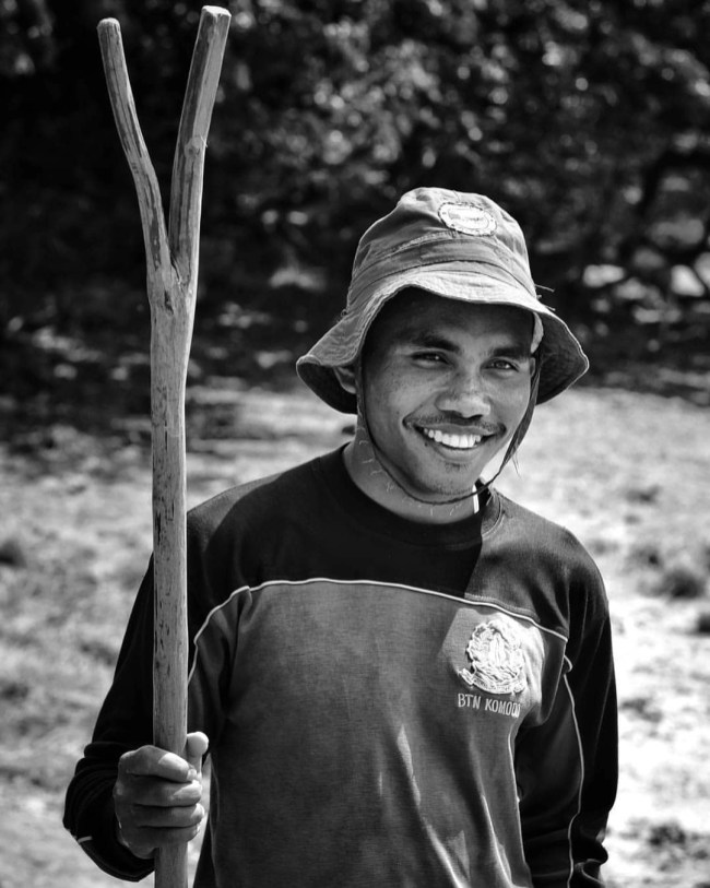Meet Benjamin, a Komodo National Park Ranger who leads the tourists around the Rinca island, full of Komodo dragons with the solely help of his stick.
