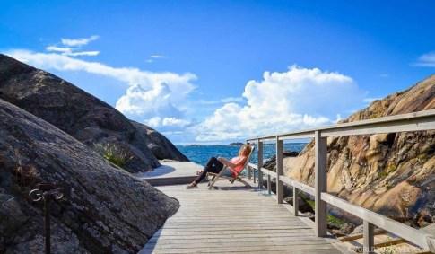 Chilling in Landsort Sweden - TBEX Stockholm - A World to Travel