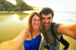 Inma and Jose - Serantes couple shot at sunset - Asturias - A World to Travel
