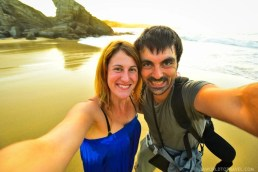 Inma and Jose - Serantes couple shot at sunset - Asturias - A World to Travel