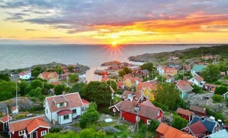 Landsort at sunset -TBEX Stockholm Sweden - A World to Travel