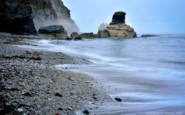 Long exposure shot of Portizuelo beach - Luarca Asturias - A World to Travel