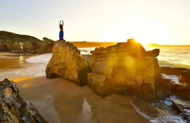Serantes beach at sunset, Asturias