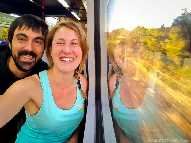 Train window reflections - Galicia - A World to Travel
