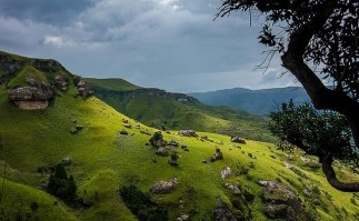 Guide to the Drakensberg Mountains of South Africa - sunny hill