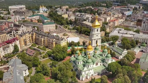 Kyiv aerial 3 St Sophias - Ukraine - The Hidden Summer Gem Of Europe - A World to Travel