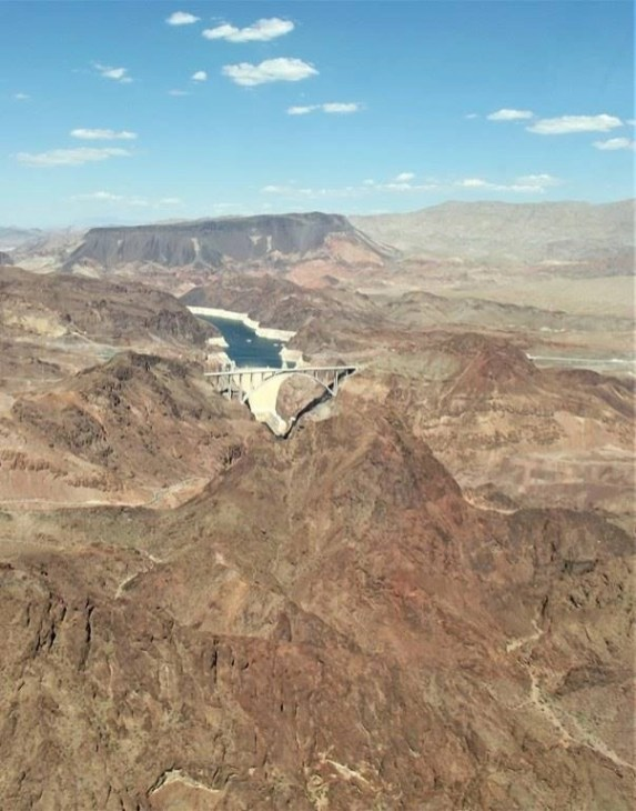 Hoover Dam from a Papillon Tours Helicopter - Highlights Of A South West Road Trip - A World to Travel