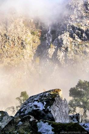 Aguieiras Waterfall fog - Arouca - Montanhas Magicas Road Trip - Portugal - A World to Travel