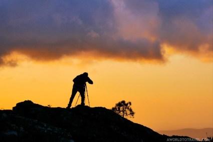 Photographer - Serra da Freita at sunset - Arouca - Montanhas Magicas Road Trip - Portugal - A World to Travel