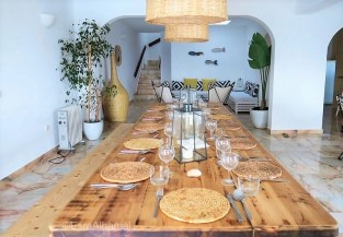 One Life Lodge Dinner Set up - Surf and Yoga Retreat in Portugal - Chicks on Waves - A World to Travel