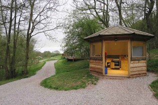 Private Kitchen - South Wales Glamping Hidden Valley Yurts Review - A World to Travel