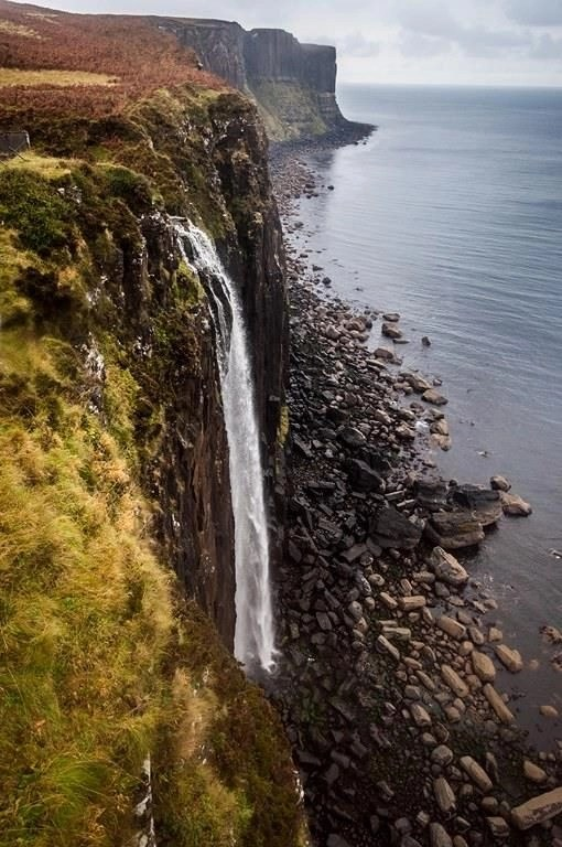 River to sea waterfall - Fun Things To Do In Scotland - A World to Travel