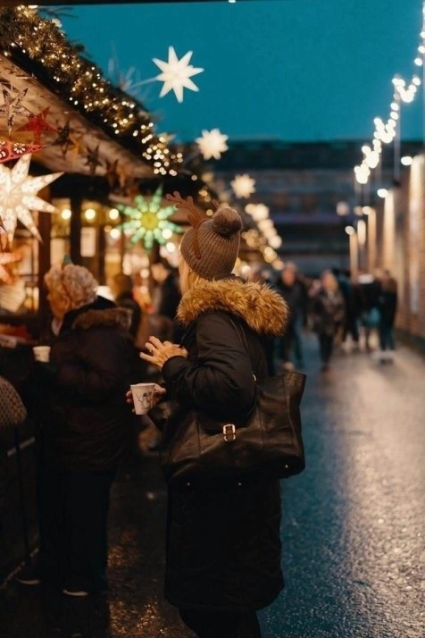 Christmas Market Edinburgh at dusk - Best Winter Destinations In Europe - A World to Travel
