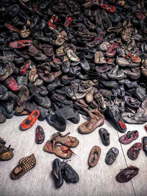 Shoe room - Auschwitz tour - A World to Travel