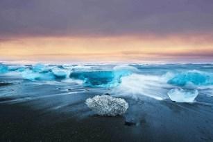 Jökulsárlón beach - A World to Travel