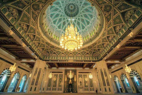Muscat grand mosque - Oman attractions - A World to Travel