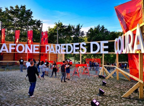 Festival main entrance - Vodafone Paredes de Coura music festival 2019 - A World to Travel