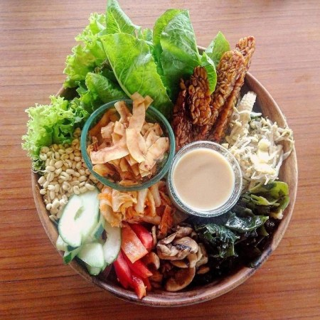 Organic food bowl - Where to eat in Ubud Indonesia - A World to Travel