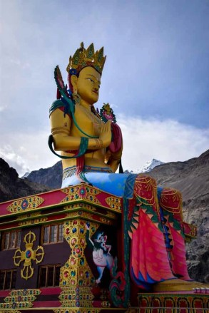 Maitreyi Buddha statue at Diskit Monastery - How to plan a trip to Leh Ladakh