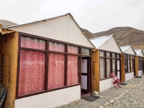 Native huts at Pangong Lake - Ladakh travel itinerary