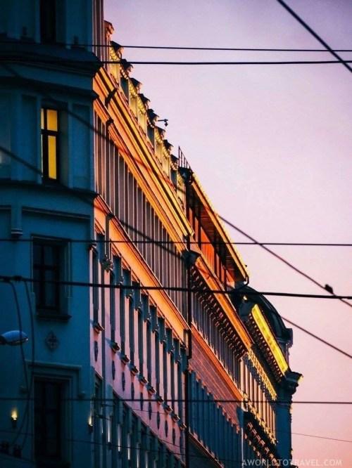 Riga urban scenes at sunset - Latvia in Autumn - A World to Travel (1)