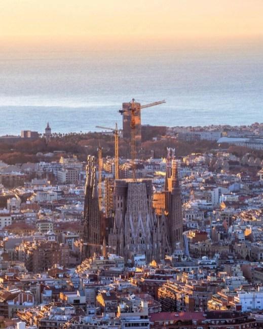 Barcelona drone view