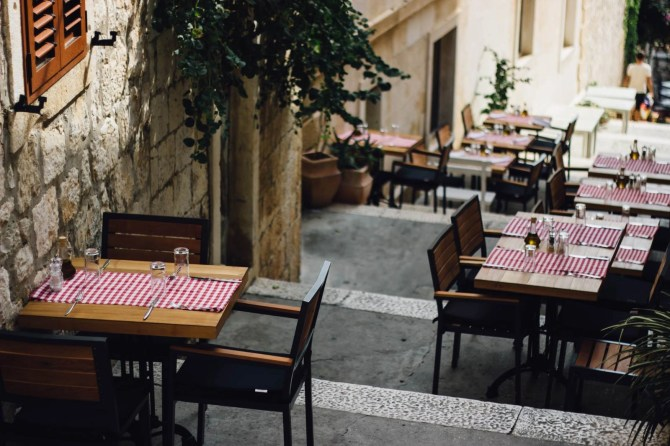 Restaurant in a Croatian island