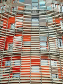 Torre Agbar, Avinguda Diagonal, Barcelona, Spain
