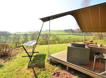 Safari tent at Camping Kalkesdelt in Ettelbruck near Escapardenne Lee Trail - Ardennes Region Luxembourg