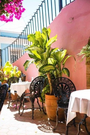 Outdoor patio in a Trinidad restaurant - Cities to visit in Cuba