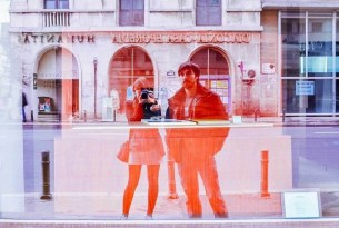 Reflection picture of Jose and Inma in Bucharest 2013 - A World to Travel